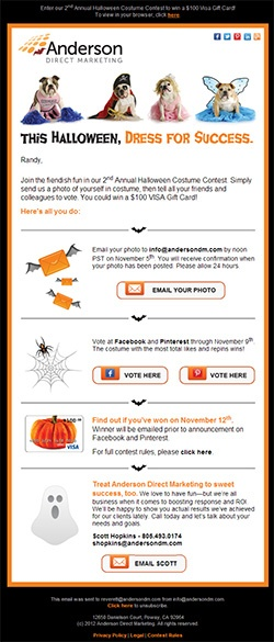 Halloween 2012 Email Template Example