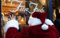 Christmas shopping by Santa