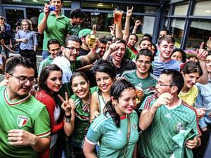 Hispanic soccer fans